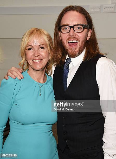 Sally Greene and Tim Minchin attend the press night after party for Groundhog Day at The Old Vic Theatre on August 16 2016 in London England