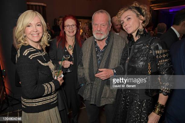 Sally Greene Maggie Weston Terry Gilliam and Jo Manoukian attend the BFI Chairman's dinner awarding Tilda Swinton with a BFI Fellowship at Rosewood...