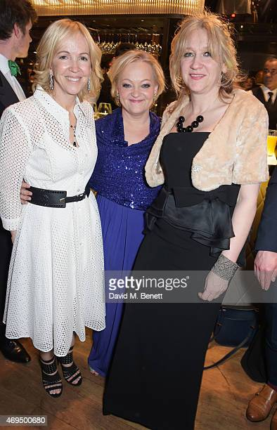 Sally Greene Maria Friedman and Sonia Friedman attend The Olivier Awards after party at The Royal Opera House on April 12 2015 in London England