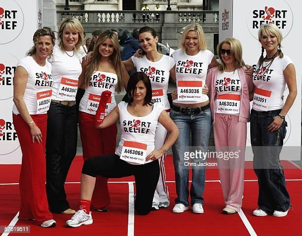 Sally Gunnell Nicky Chapman Sarah Barrand Davina McCall Kirsty Gallacher Kate Thornton Gillian McKeith and Zoe Lucker are seen as they Launch Sport...