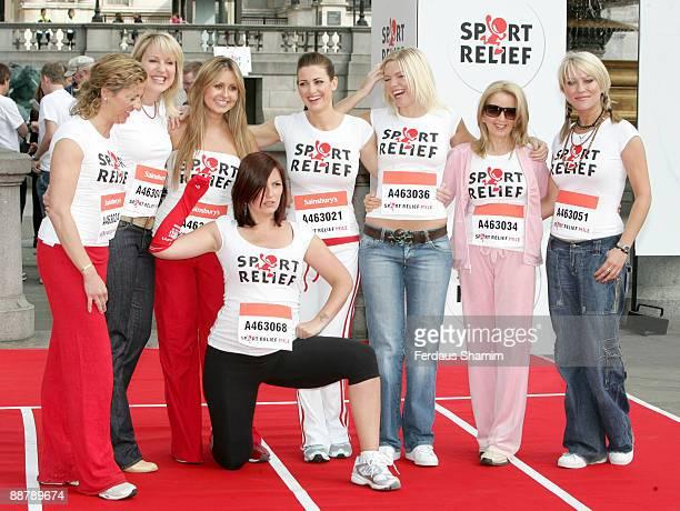 Sally Gunnell Nikki Chapman Sarah Barrand Davina McCall Kirsty Gallacher Kate Thornton Dr Gillian McKeith and Zoe Lucker