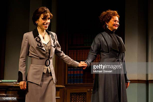 Sally Hawkins and Cherry Jones perform at the opening night of 'Mrs Warren's Profession' at Roundabout Theatre Company's American Airlines Theatre on...