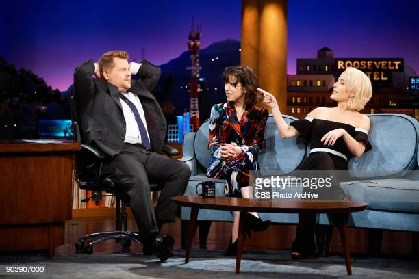 Sally Hawkins and Gillian Anderson chat with James Corden during 'The Late Late Show with James Corden' Tuesday January 9 2018 On The CBS Television...