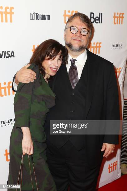 Sally Hawkins and Guillermo del Toro attend 'The Shape of Water' premiere during the 2017 Toronto International Film Festival at The Elgin on...