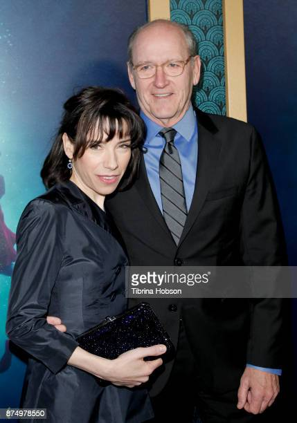 Sally Hawkins and Richard Jenkins attend the premiere of 'The Shape Of Water' at Academy Of Motion Picture Arts And Sciences on November 15 2017 in...