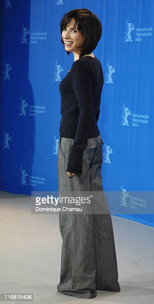 Sally Hawkins attends the 'Happy Go Lucky' photocall during day six of the 58th Berlinale International Film Festival held at the Grand Hyatt Hotel...