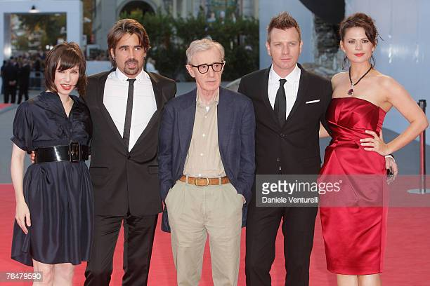 Sally Hawkins, Colin Farrell, Woody Allen, Ewan McGregor and Hayley Atwell attend the Cassandra's Dream premiere in Venice during day 5 of the 64th...