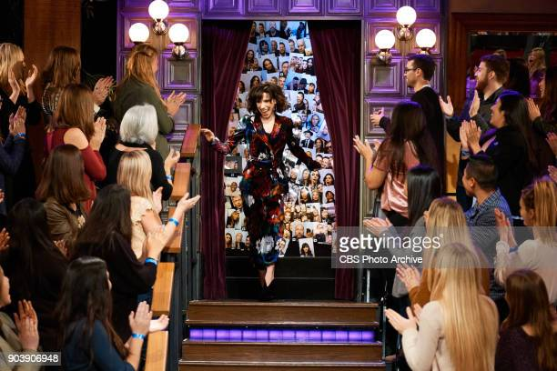 Sally Hawkins greets the audience during 'The Late Late Show with James Corden' Tuesday January 9 2018 On The CBS Television Network