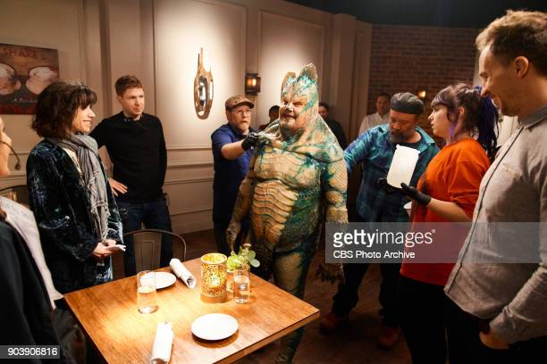 Sally Hawkins performs in a sketch called Catfish Date with James Corden during 'The Late Late Show with James Corden' Tuesday January 9 2018 On The...