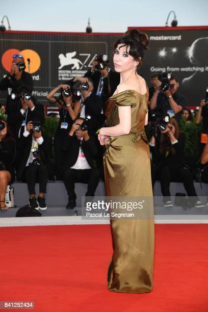 Sally Hawkins walks the red carpet ahead of the 'The Shape Of Water' screening during the 74th Venice Film Festival at Sala Grande on August 31 2017...