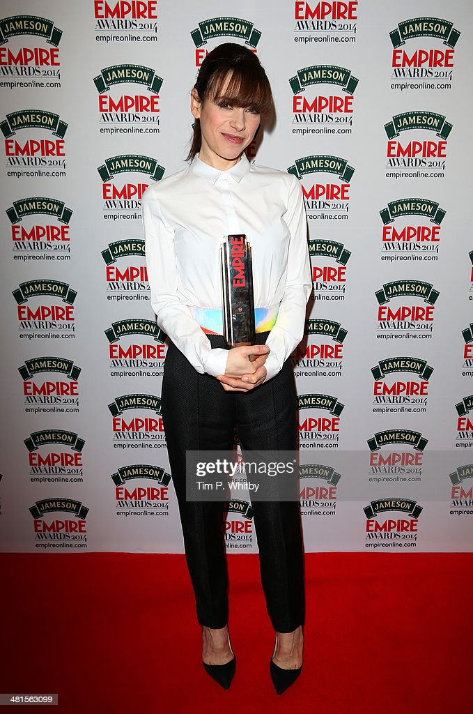 Sally Hawkins, winner of Best Supporting Actress for 'Blue Jasmine', during the Jameson Empire Awards 2014 at the Grosvenor House Hotel on March 30, 2014 in London, England. Regarded as a relaxed end to the awards show season, the Jameson Empire Awards celebrate the film industry's success stories of the year with winners being voted for entirely by members of the public. Visit empireonline.com/awards2014 for more information.