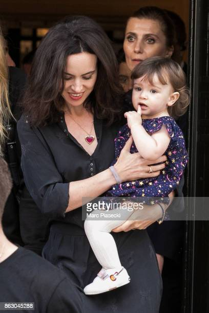 Sally Humphreys and her daughter Alice Rose Wood are seen leaving the 'Four Seasons George V' hotel ahead the first Rolling Stones concert at U Arena...
