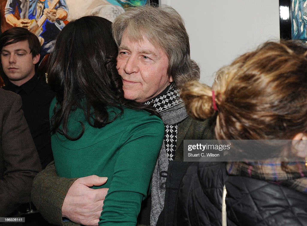 Iconic Rock Star Exhibits Fine Art Collection-Unveiled By Ronnie Wood At Castle Fine Art : News Photo