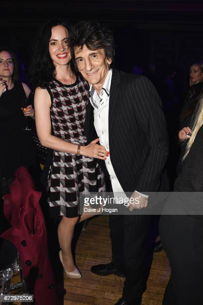 Sally Humphreys and Ronnie Wood attend the Jazz FM Awards 2017 at Shoreditch Town Hall on April 25 2017 in London United Kingdom