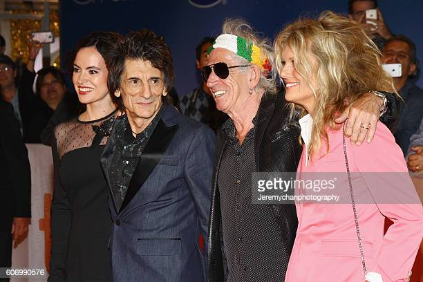 Sally Humphreys musician Ronnie Wood musician Keith Richards and Patti Hansen attend the The Rolling Stones Ole Ole Ole A Trip Across Latin America...