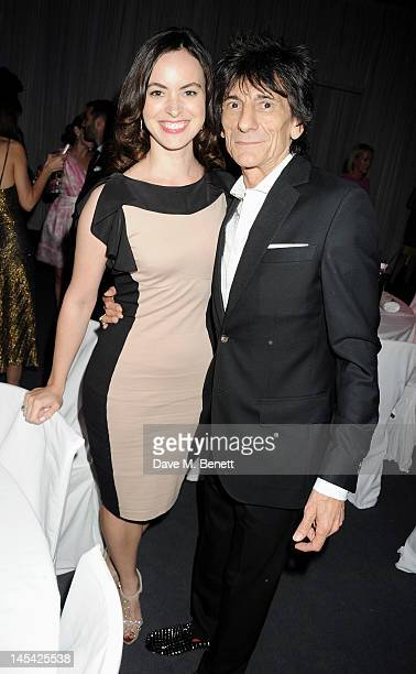 Sally Humphries and Ronnie Wood attend an after party following the Glamour Women of the Year Awards in association with Pandora at Berkeley Square...