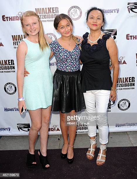 Sally Kearns Emma Kong and Jackie Kong arrive for the 2014 Etheria Film Night held at American Cinematheque's Egyptian Theatre on July 12 2014 in...