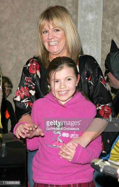 Sally Lindsay and daughter during London Taxi Drivers' Fund for Underpriviledged Children at Grosvenor House in London England United Kingdom