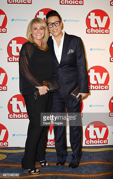 Sally Lindsay and Gok Wan attend the TV Choice Awards 2015 at Hilton Park Lane on September 7 2015 in London England
