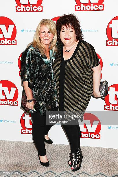 Sally Lindsay and Sue Vincent arrive for the TVChoice Awards at The Dorchester on September 5 2016 in London England