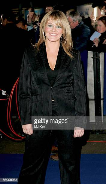 Sally Lindsay arrives at the National Television Awards 2005 at the Royal Albert Hall on October 25 2005 in London England