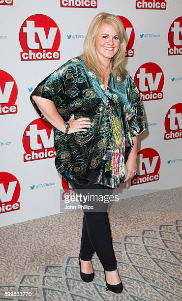 Sally Lindsay arrives for the TV Choice Awards at The Dorchester Hotel on September 5 2016 in London England