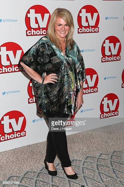 Sally Lindsay arrives for the TVChoice Awards at The Dorchester on September 5 2016 in London England
