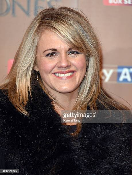 Sally Lindsay arrives for the world premiere of Game of Thrones Season 5 at Tower of London on March 18 2015 in London England