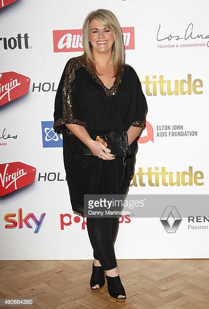 Sally Lindsay attends the Attitude Magazine Awards at Banqueting House on October 14 2015 in London England