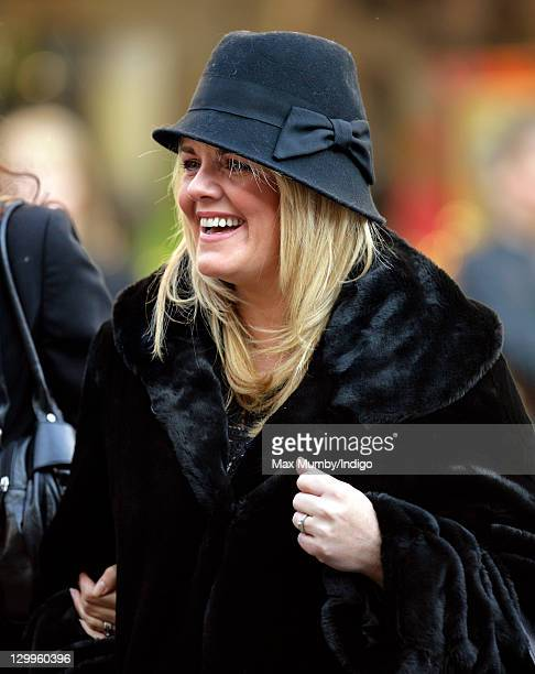 Sally Lindsay attends the funeral of 'Coronation Street' actress Betty Driver at St Ann's Church on October 22 2011 in Manchester England