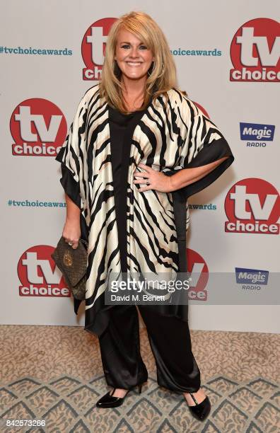 Sally Lindsay attends the TV Choice Awards at The Dorchester on September 4 2017 in London England