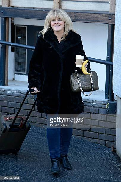 Sally Lindsay departing ITV Studios on January 9 2013 in London England