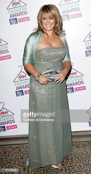 Sally Lindsay during 1st Annual Ariel High Street Fashion Awards at Natural History Museum in London Great Britain