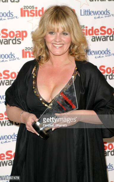 Sally Lindsay during 2005 Inside Soap Awards at Floridita in London Great Britain