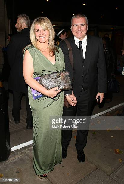 Sally Lindsay leaving the Pride of Britain awards at the Grosvenor hotel great room on September 28 2015 in London England