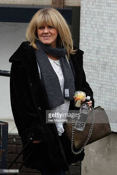 Sally Lindsay seen leaving Loose Women at the ITV Studios on January 14 2013 in London England