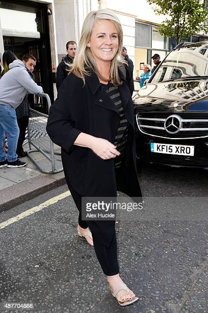 Sally Lindsay seen leaving the BBC Radio 2 Studios on September 11 2015 in London England Photo by Alex Huckle/GC Images