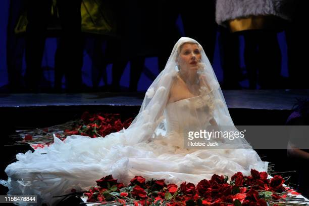 Sally Matthews as Rusalka in Glyndebourne's production of Antonin Dvorak's Rusalka directed by Melly Still and conducted by Robin Ticciati at...
