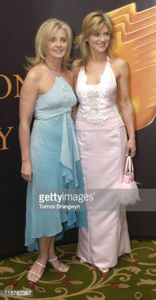 Sally Meen Anthea Turner during Royal Television Society Programme Awards – Inside Arrivals at Grosvenor House Hotel in London Great Britain