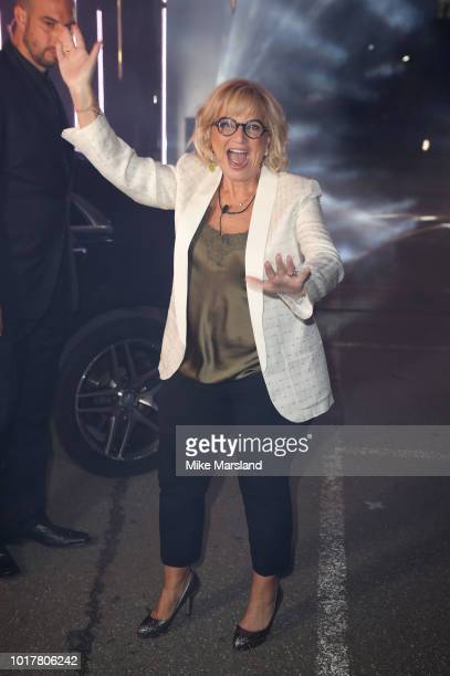 Sally Morgan enters the Celebrity Big Brother house at Elstree Studios on August 16 2018 in Borehamwood England