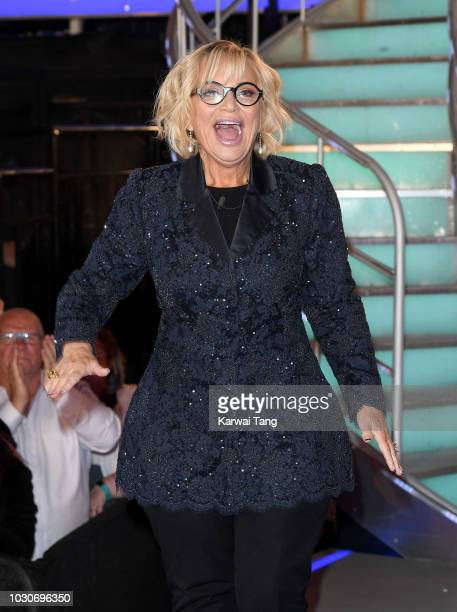 Sally Morgan is evicted during the Celebrity Big Brother final 2018 at Elstree Studios on September 10 2018 in Borehamwood England