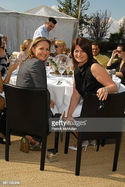 Sally Morrison and Marilyn Heston attend Roland Mouret Hosts a Diamond Aquifer Luncheon at Soho House on February 24 2005 in Los Angeles CA