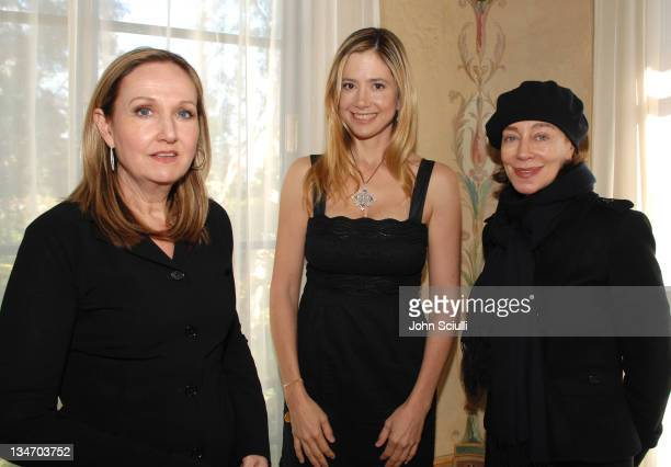 Sally Morrison Mira Sorvino and Milena Canonero during The Diamond Information Center Celestial A Diamond Affair 2007 Luncheon Hosted by Fred...