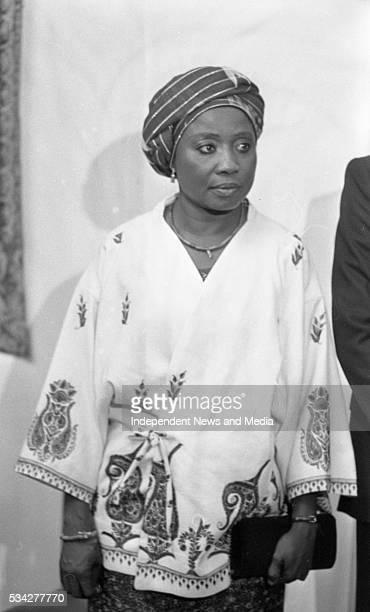 Sally Mugabe wife of President of Zimbabwe Robert Mugab at a State reception at Dublin Castle during Mugabe's threeday visit to Ireland in September...
