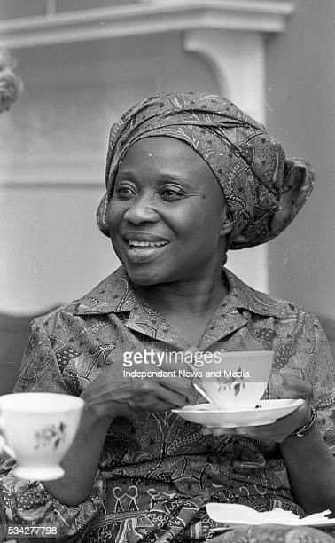 Sally Mugabe wife of Zimbabwean President Robert Mugabe at the Irish Countrywomen's Association in Dublin during a threeday visit with her husband to...