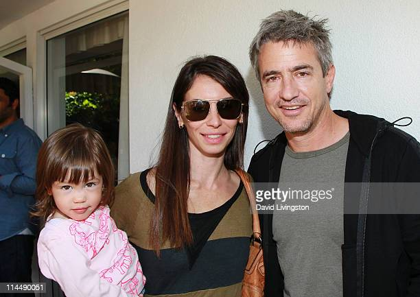 Sally Mulroney Tharita Catulle and actor Dermot Mulroney attend the Rise Up Christchurch telethon appeal event at the residence of the New Zealand...