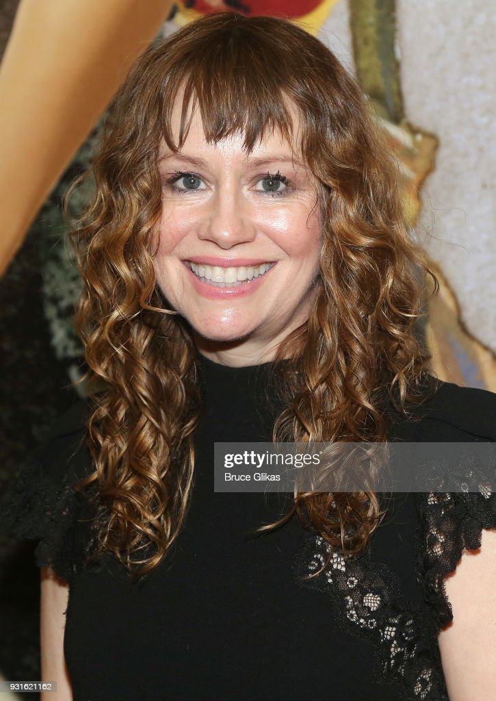 Sally Murphy poses at The Opening Night of 'Admissions' at The Mitzi E. Newhouse Theater Lobby on March 12, 2018 in New York City.