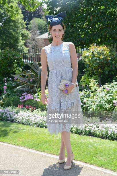 Sally Nugent attends day 3 of Royal Ascot at Ascot Racecourse on June 22 2017 in Ascot England