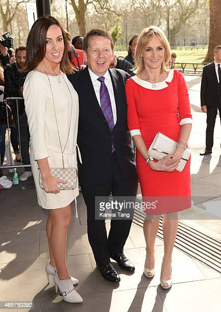 Sally Nugent, Bill Turnbull and Louise Minchin attend the TRIC Awards at Grosvenor House Hotel on March 10, 2015 in London, England.