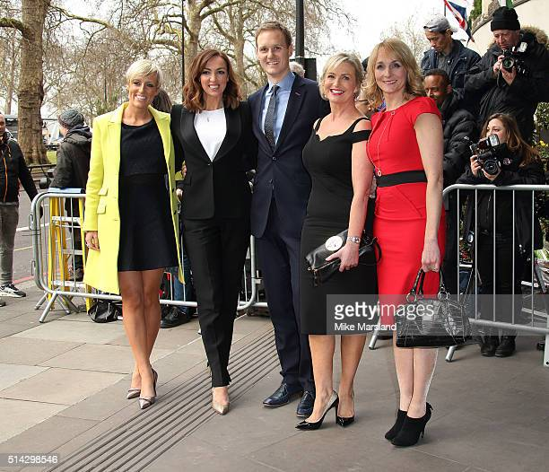 Sally Nugent, Carol Kirkwood, Dan Walker, Louise Minchin and Stephanie McGovern of BBC Breakfast attend the TRIC Awards at Grosvenor House Hotel at...